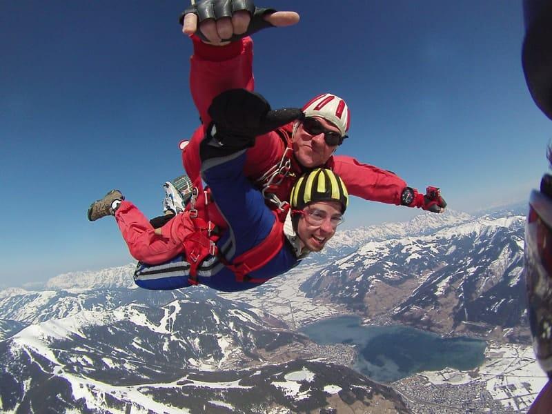 Fallschirmspringen Zell am See Salzburg Tandemsprung