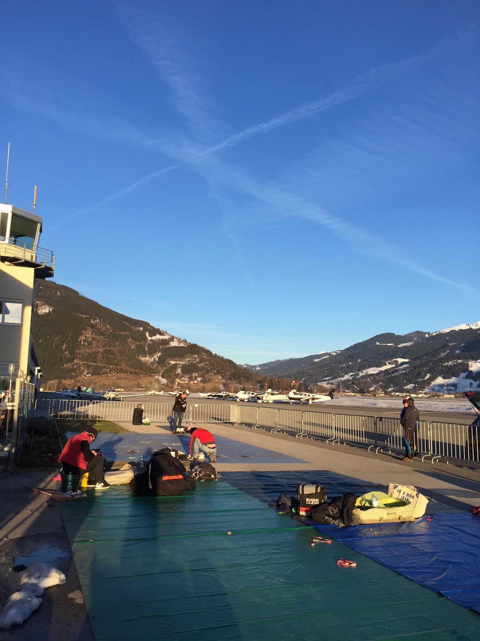Sonnenschein Tandem Fallschirmspringen Salzburg