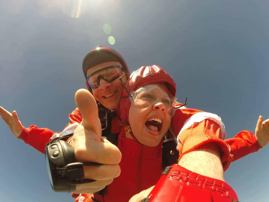 Tandemsprung Oberösterreich Wels Fallschirmspringen